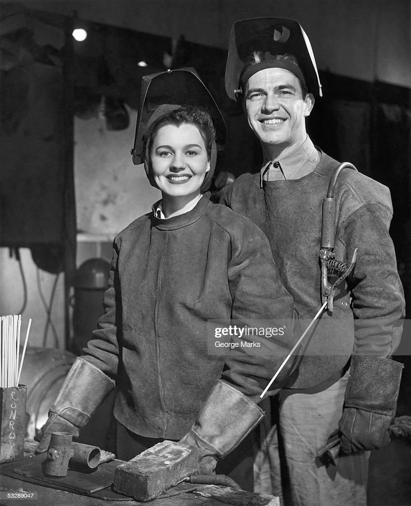 Man and woman at work : Stock Photo