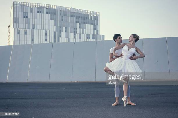 Man and woman ballet dancers