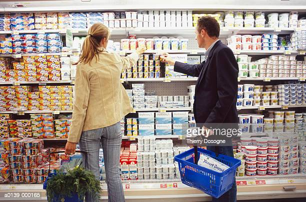 Man and Woman by Yogurts