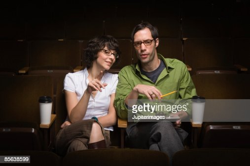 Man and woman conducting casting call