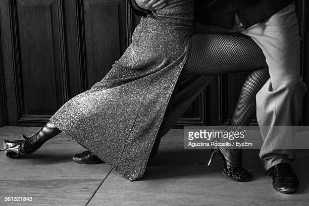 Man And Woman Dancing Tango