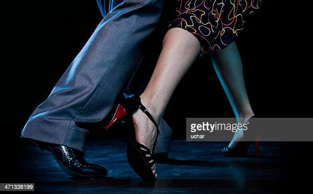 Man and woman doing the passionate tango