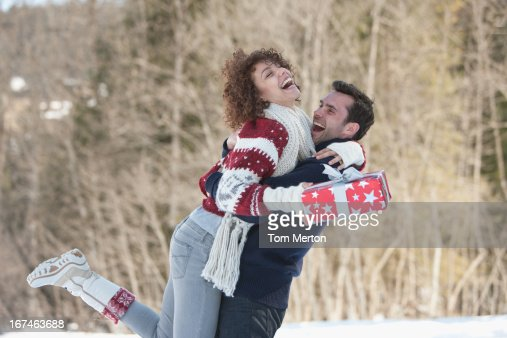 Man and woman embracing : Stock Photo