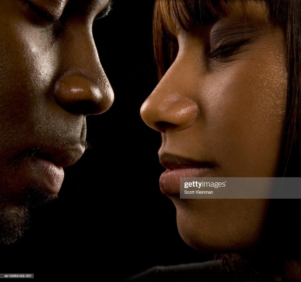 Man And Woman Face To Face Eyes Closed Closeup Profile