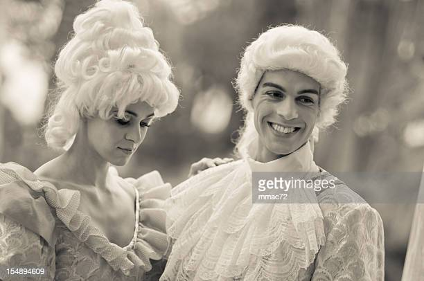 Man and Woman in Old French Costumes