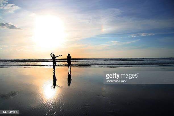 Man and woman on beach