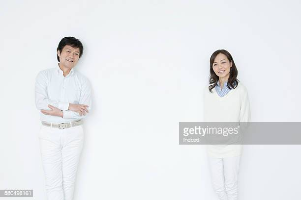 Man and woman standing face to face