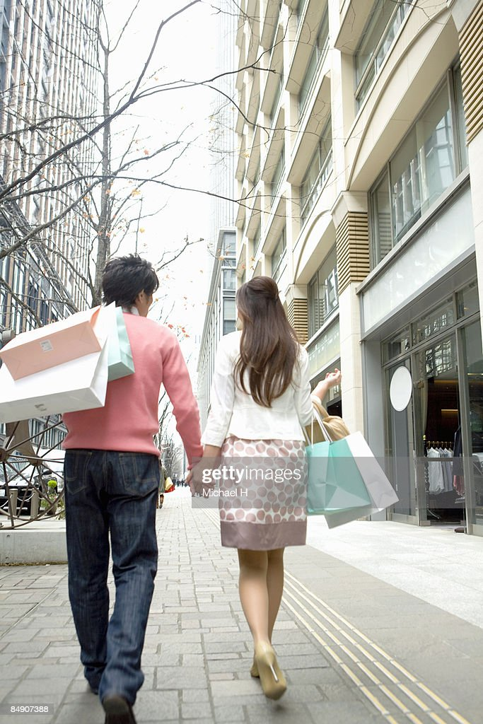Man and woman who shops.  : Stock Photo