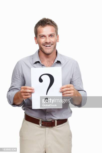 Man asking you a question