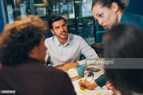 Man at a business meeting