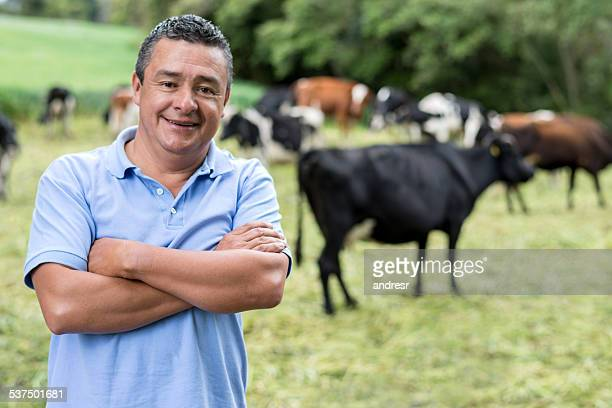 Man at a dairy farm