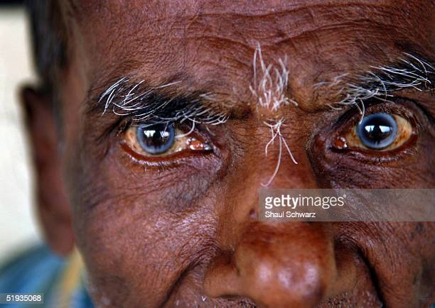 A man at a local school that has been turned in to refugee camp looks on January 9 2005 in Matara Sri Lanka The man who is not recognized by any one...