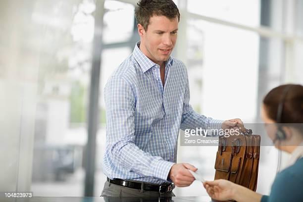 Man at a reception
