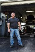 Man at Auto Mechanics Shop