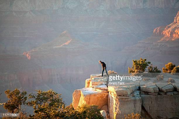 Man at Grand Canyon