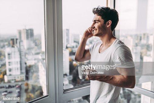 Man at home. : Stock Photo