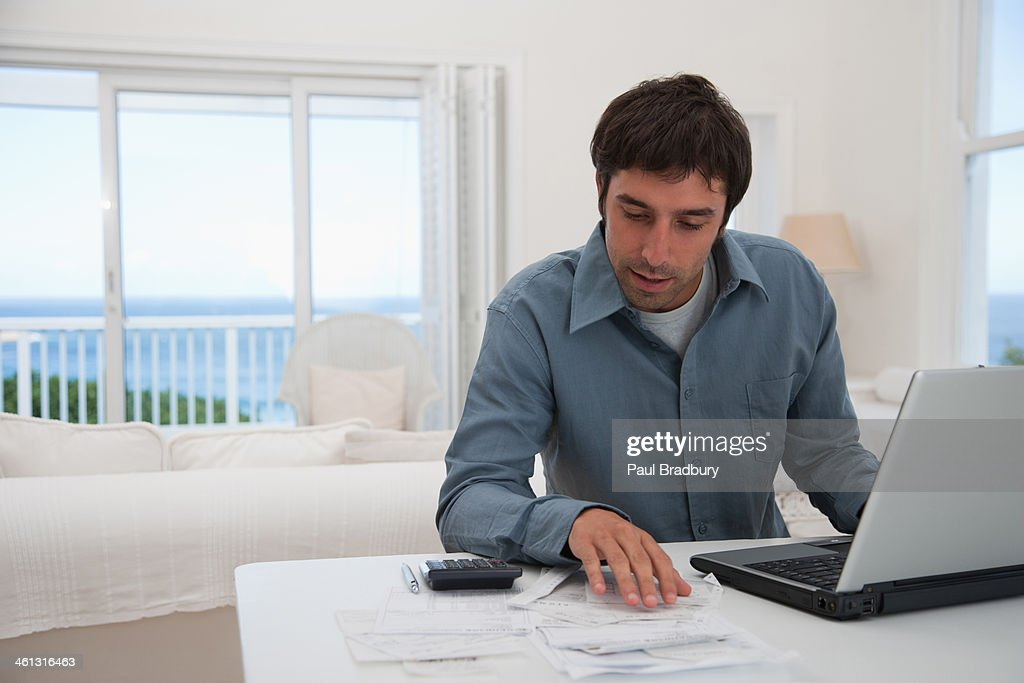 Man at laptop  : Stock Photo