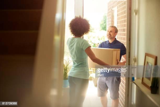 Mann an der Tür