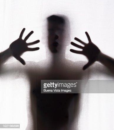 Man behind a : Foto stock