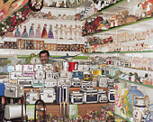 Man behind counter in gift shop, portrait