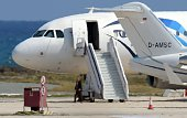 A man believed to be the hijacker of the EgyptAir Airbus A320 which was diverted to Cyprus leaves the plane before surrendering to security forces...