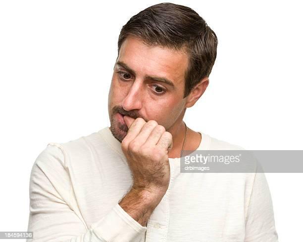 Man Biting Fingernail
