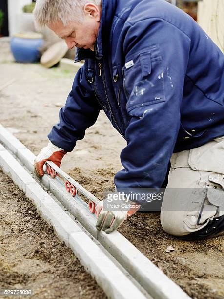 A Man Building A House Sweden