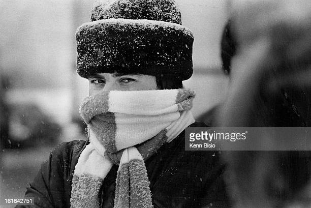 NOV 20 1979 NOV 21 1979 Man Bundled Up Against the snow and ***** wind waits for a bus downtown Storm was diminishing Wednesday and forecasts said...