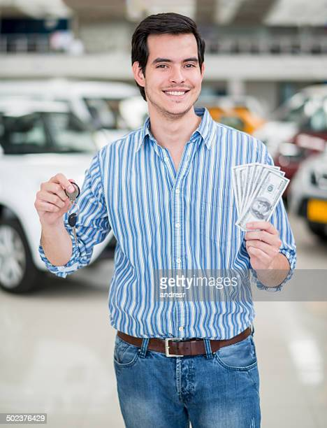 Man buying a car