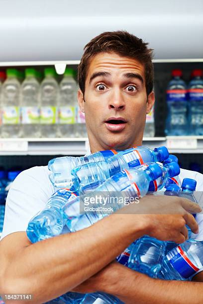 Man buying bottles bulk