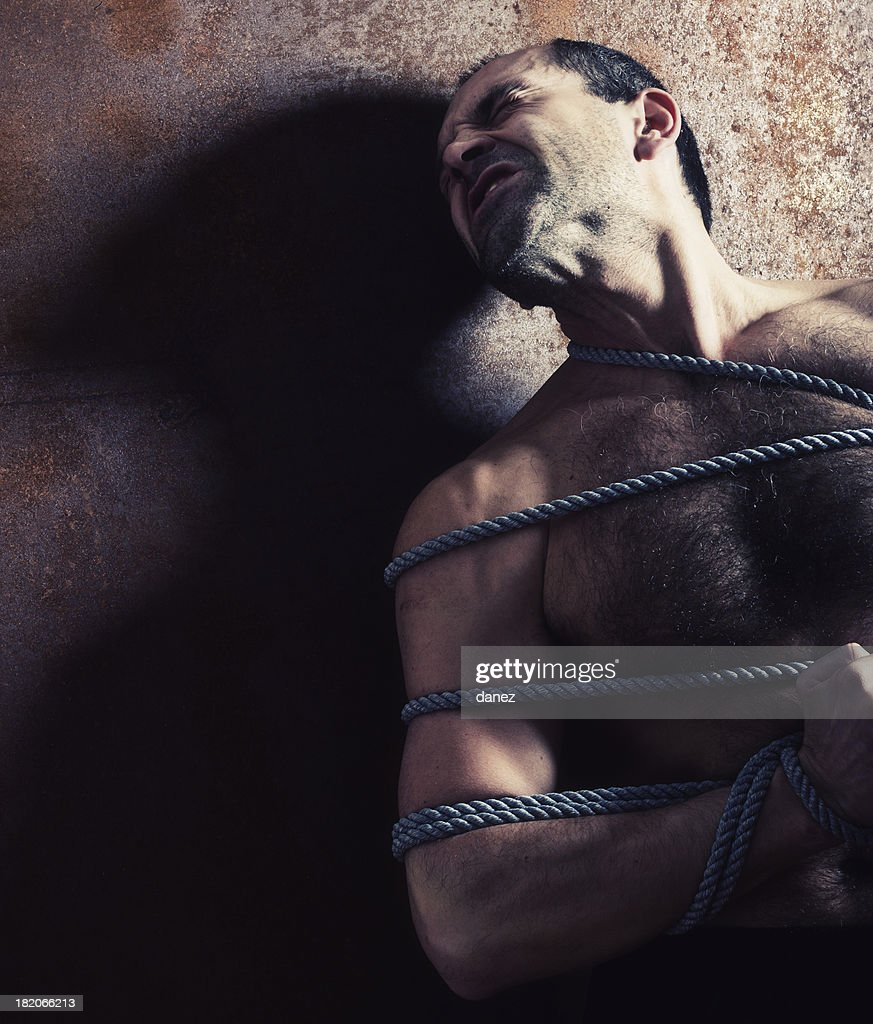 Man captive : Stock Photo