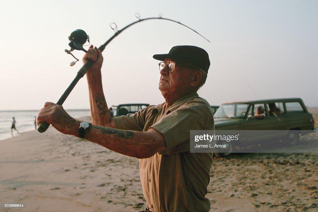 Man Casting Fishing Pole