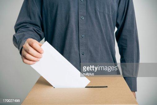 man casting his vote