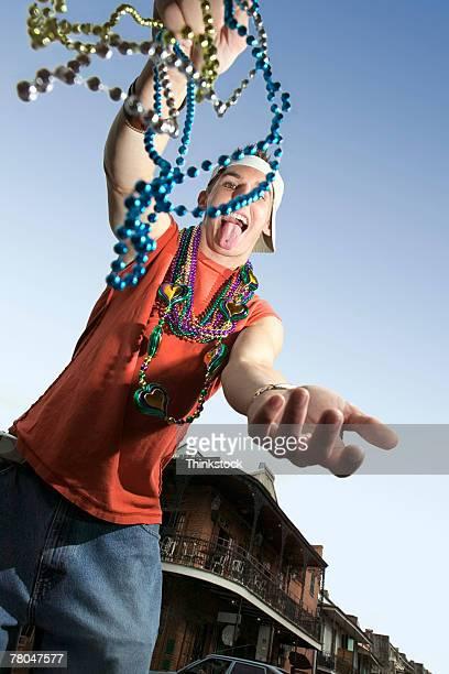 Man celebrating mardi gras