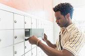 Man checking mailbox