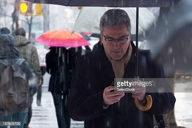 Man checking phone
