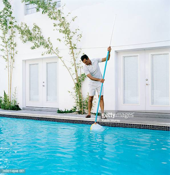 Swimming Pool Cleaning Stock Photos And Pictures Getty