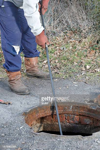 Homme Débarrassez le draine