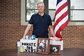 Man collecting donations for veterans