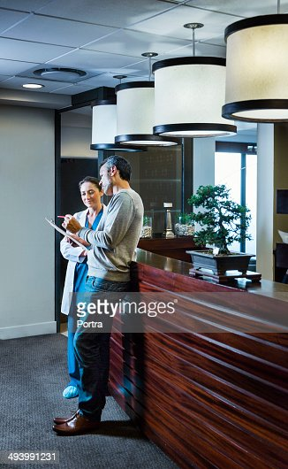 Man consulting his doctor. : Stock Photo