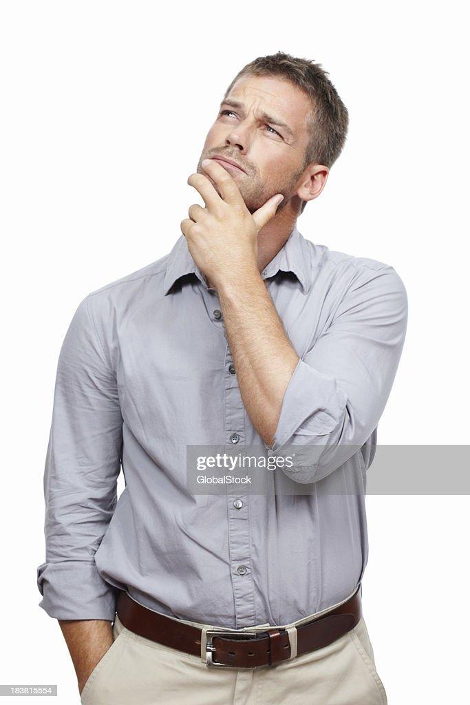 Man contemplating : Stockfoto