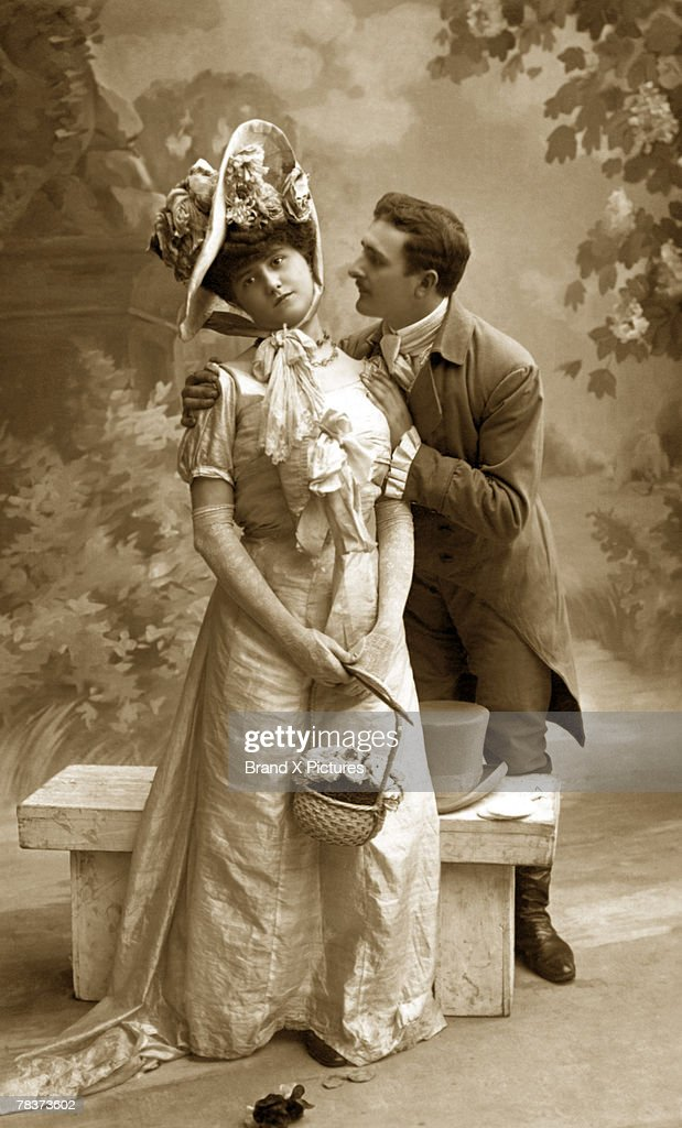 Man courting woman