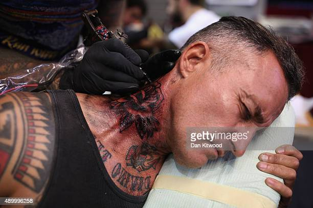 tattoo convention pictures and photos getty images
