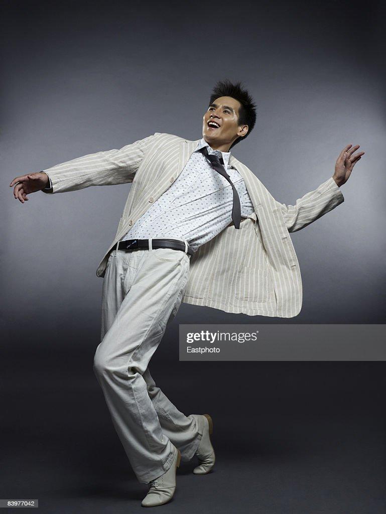 Man dancing. : Stock Photo