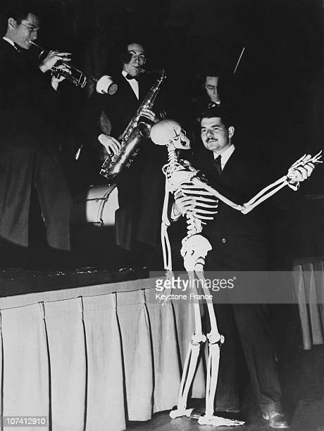 Man Dancing With A Skeleton