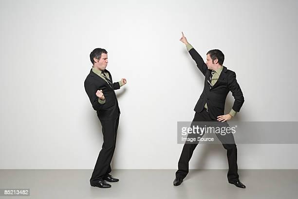 Man dancing with himself