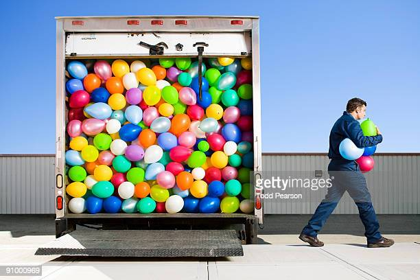 Man Delivering Balloons