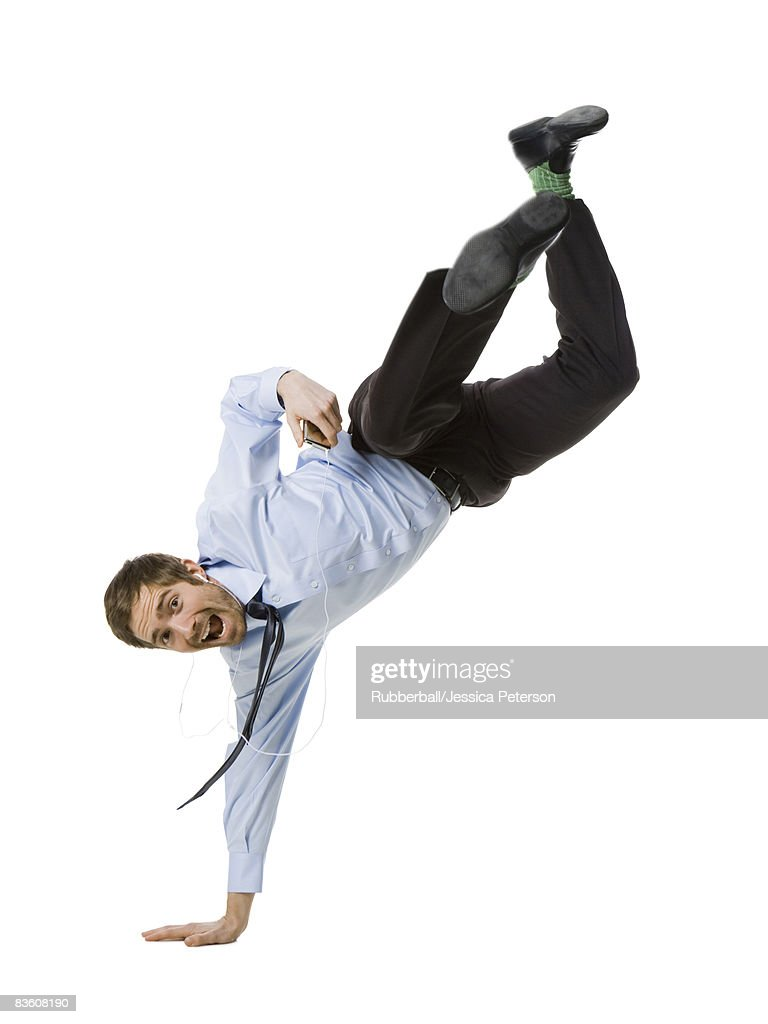 man doing a handstand : Stock Photo