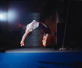 Man Doing Backflip