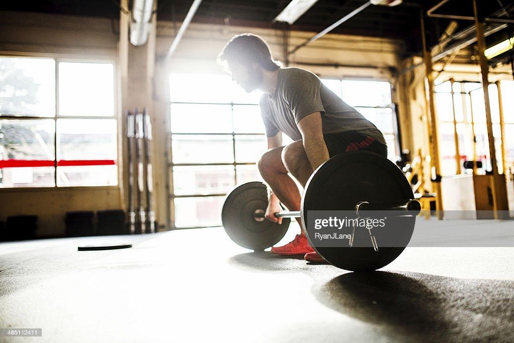 Man Doing Cross Training Workout